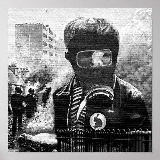 IRA Mural, Derry Poster