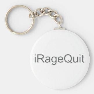 iRageQuit Rage Quitting Gamer Basic Round Button Keychain