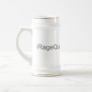 iRageQuit Rage Quitting Gamer Beer Stein