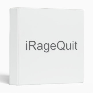 iRageQuit Rage Quitting Gamer Binder