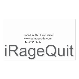 iRageQuit Rage Quitting Gamer Business Card
