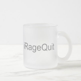 iRageQuit Rage Quitting Gamer Frosted Glass Coffee Mug