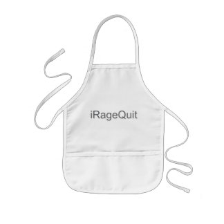 iRageQuit Rage Quitting Gamer Kids' Apron