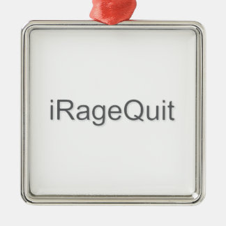 iRageQuit Rage Quitting Gamer Metal Ornament
