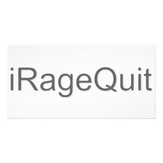 iRageQuit Rage Quitting Gamer Personalized Photo Card