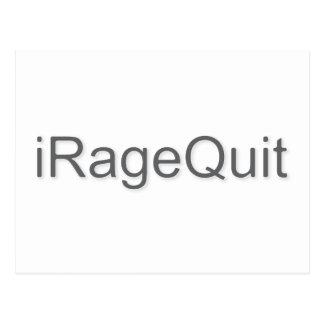 iRageQuit Rage Quitting Gamer Postcard