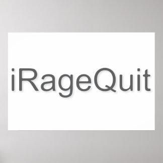 iRageQuit Rage Quitting Gamer Poster
