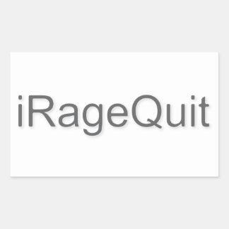 iRageQuit Rage Quitting Gamer Rectangular Sticker