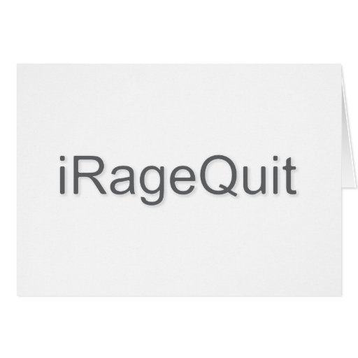 iRageQuit Rage Quitting Gamer Stationery Note Card