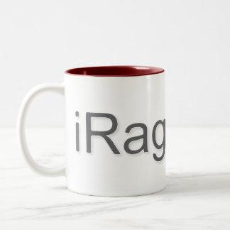 iRageQuit Rage Quitting Gamer Two-Tone Coffee Mug