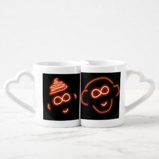 Irahs and Luap Monkey Love mug set Couples' Coffee Mug Set