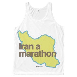 IRAN A MARATHON Politiclothes Humor -.png All-Over Print Tank Top