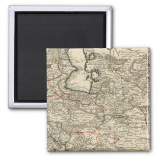 Iran, Afghanistan, Pakistan 2 Inch Square Magnet