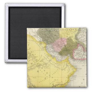 Iran and Saudi Arabia 2 Inch Square Magnet