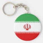 iran basic round button keychain