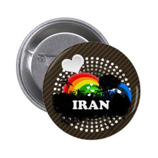 Irán con sabor a fruta lindo pin redondo 5 cm