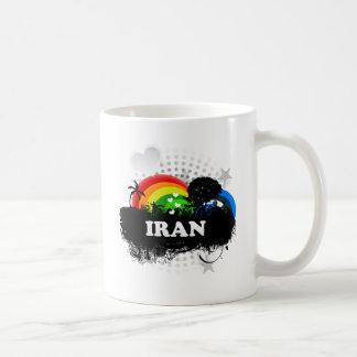 Irán con sabor a fruta lindo taza de café