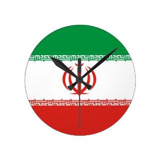 iran country flag clock