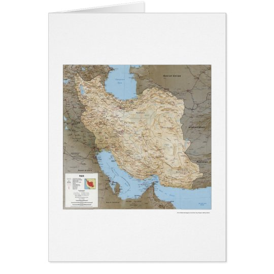 Iran Detailed Map 1991 Card