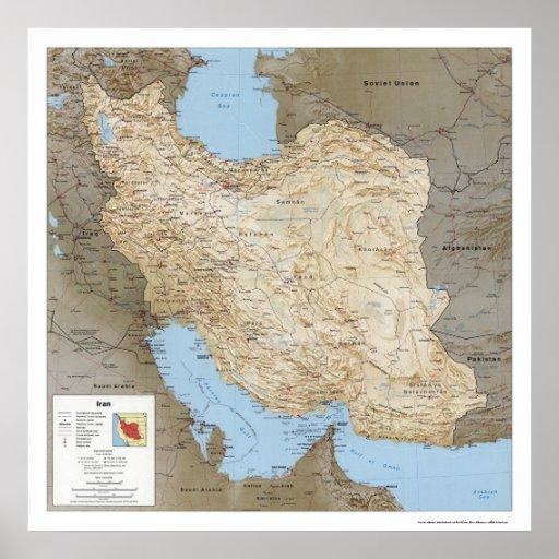 Iran Detailed Map 1991 Print