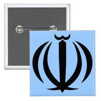 iran emblem pinback button