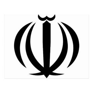 iran emblem postcard