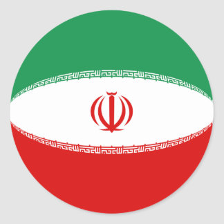 Iran Fisheye Flag Sticker