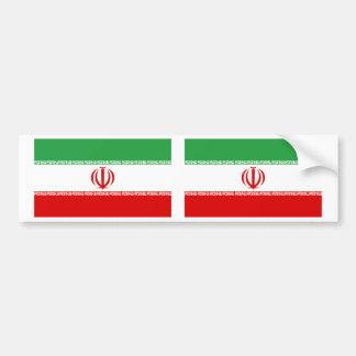 Iran Flag Car Bumper Sticker