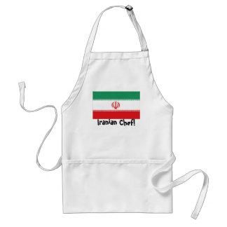Iran flag chef apron