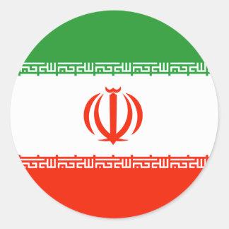 Iran Flag Classic Round Sticker
