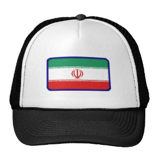 Iran flag embroidered effect hat