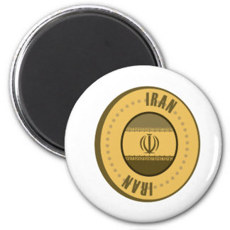 Iran Flag Gold Coin Magnet