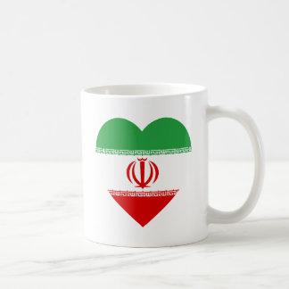 Iran Flag Heart Classic White Coffee Mug