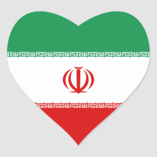 Iran Flag Heart Sticker
