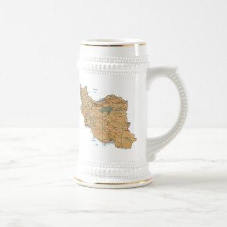 Iran Flag Map Mug