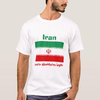 Iran Flag + Map + Text T-Shirt