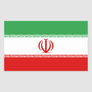 Iran Flag Rectangular Sticker