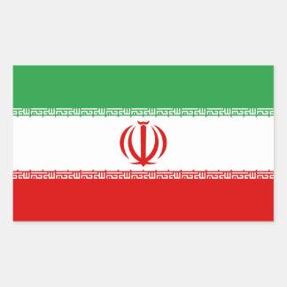 Iran Flag Rectangular Sticker