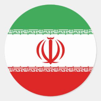 Iran Flag Round Stickers