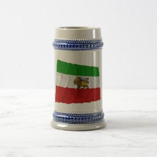 Iran Flag Waving 1925-1979 Coffee Mugs