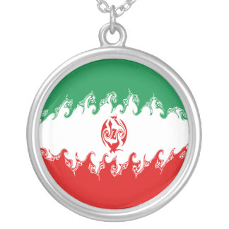 Iran Gnarly Flag Silver Plated Necklace