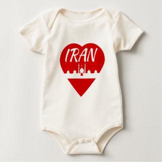 Iran Heart Baby Bodysuit