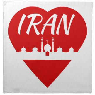 Iran Heart Cloth Napkin