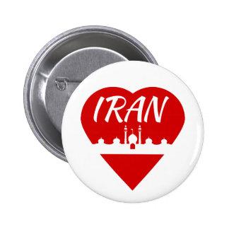 Iran Heart Pinback Button