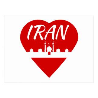 Iran Heart Postcard