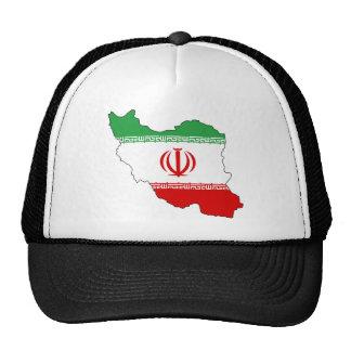 Irán IR, bandera, جمهوریاسلامیایران del escudo de  Gorro De Camionero