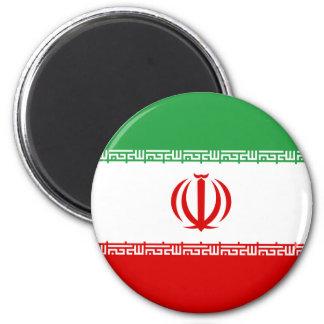 Irán IR, bandera, جمهوریاسلامیایران del escudo de  Imán Redondo 5 Cm
