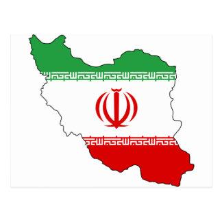 Iran IR , Flag, Coat of arms جمهوری اسلامی ایران Postcard