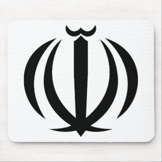 Iran IR , Flag, Coat of arms, Flag-map Mouse Pad