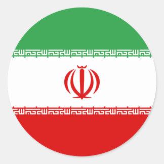 Iran/Iranian/Irani Flag Classic Round Sticker
